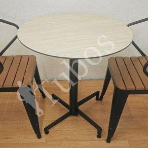 Baštanski ugostiteljski sto sa kompakt pločom