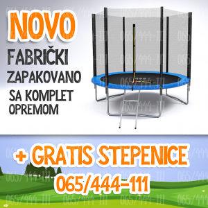 Trampolina 244 cm NOVO gratis ljestve - Top ponuda!