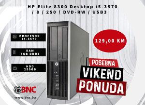 HP Elite 8300 Desktop i5-3570 / 8 / 250 / DVD-RW / USB3