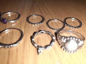 Set prstenja set od 9 prstenova S veličina