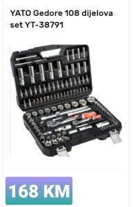 Set alata (gedora) u koferu raznih vrsta