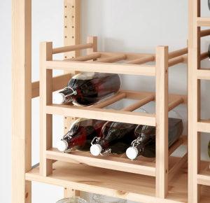 Ikea stalak za boce puno drvo