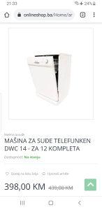 Masina za suđe Telefunken(Nova)