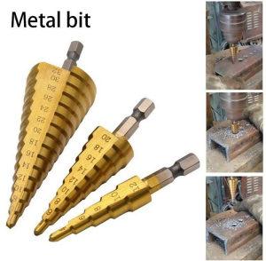 Set stepenastih borera za metal