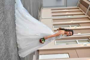Vjenčanica bijela dekorativni dezen