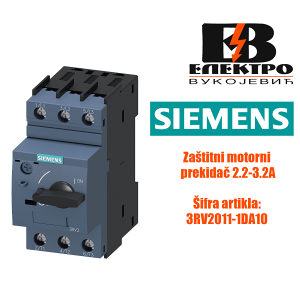 Zaštitni motorni prekidač 2.2-3.2A Siemens