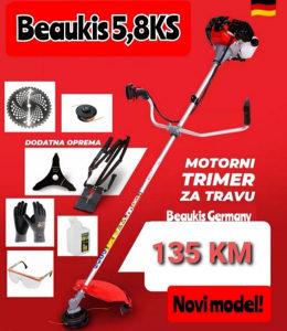 Trimer za travu BEAUKIS 5,8KS-FULL OPREMA!