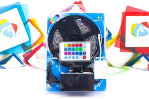 LED traka RGB 5m sa kontrolerom 5050 12V 3A