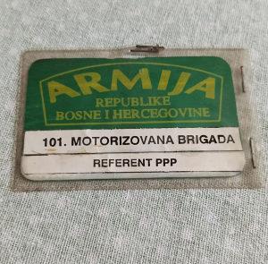 101 motorizovana brigada - kartica Armija BiH ARBiH