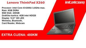 EXTRA CIJENA! Lenovo X260, i5, 8GB RAM, 240GB SSD