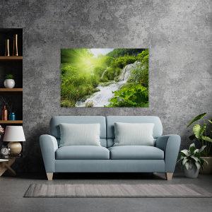 Canvas slika - Vodopad u šumi, Hrvatska