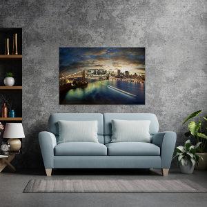 Canvas slika - NewYork Panorama, Most, Manhattan