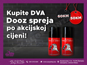 Akcija Dooz Sprej za Odgodu Ejakulacije | sexyshop.ba
