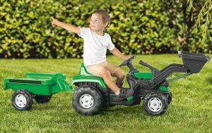 Traktor utovarivač sa kašikom - bager prikolica igračke
