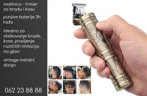 Bežični trimer-brijač-mašinica za bradu i kosu