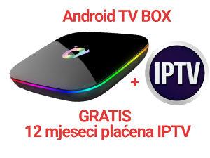 Android TV Box + GRATIS 12 mjeseci plaćeni IPTV kanali