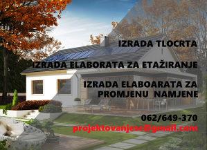 ETAŽIRANJE-IZRADA ELABORATA- TLOCRTA