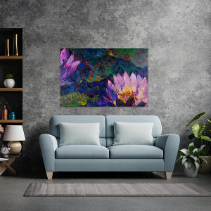 Canvas slike - Ulje na platnu, Lotus, Cvijet, Print