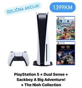 SUPER AKCIJA PlayStation 5 PS5 + dvije igrice