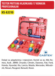 TESTER PRITISKA HLADNJAKA PROFESIONALNI 17 KOM HS-A3310