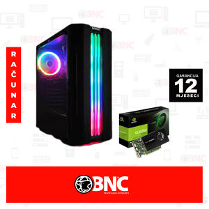 Racunar Vulcan RGB Tower i5-4590 /8/ 250/ 500/K2200 4GB