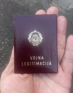 Vojna legitimacija General-potpukovnika JNA