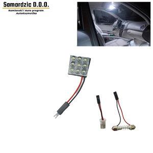 Led osvjetljenje za auto kabinu 2x2cm 9 dioda