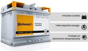 Akumulator CONTINENTAL 110AH (950EN) Garancija (2) god.