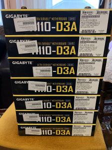 Gigabyte H110-D3A, ploce za mining