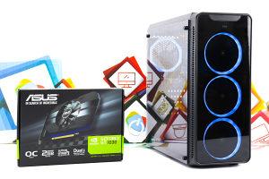 Gaming PC MS Aquarius 20; i3-10100F; GT 1030; SSD; DDR4