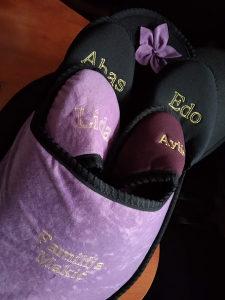 Pokućne papuče s natpisom po želji
