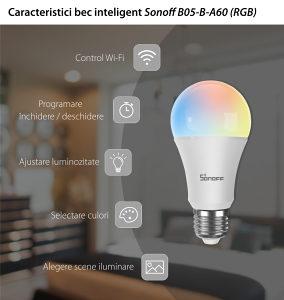 SONOFF Wi-Fi Smart LED RGB Sialica sijalica
