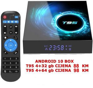 Akcija, Android 10 Box T95 4+32 gb Original