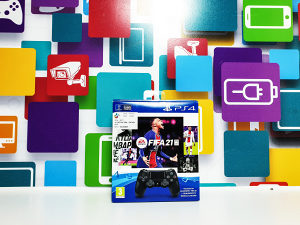 Gamepad SONY Dualshock 4 V2 PS4 Black Fifa 21