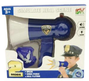 Policijski megafon, mikrofon razglas policija, igračke