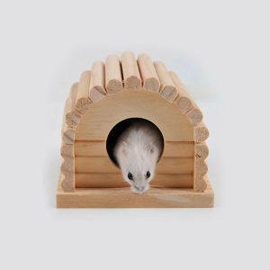 Drvena kućica gnijezdo za hrčke miševe male životinje