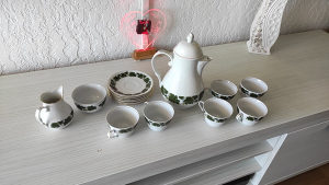 Vintage Set za čaj Burg Lindau porculan