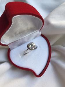 Prsten vjerenicki/zarucnicki srebro 925
