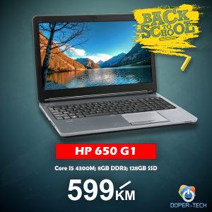 Laptop HP 650 G1; i5-4300m; SSD Back 2 School