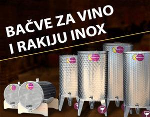 """INOX BAČVA VINO/RAKIJA 25L-1000L """"Made in Italy"""""""