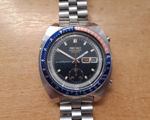 Seiko Pogue 6139-6002 automatic chronograph hronograf