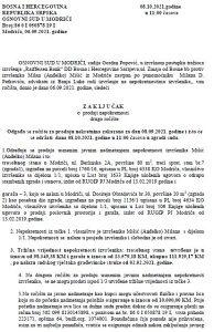 Prodaja nekretnina (stan i garaža) u Modriči