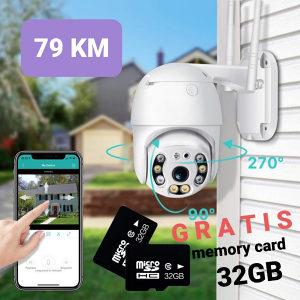 PTZ kamera 180° gratis memory card