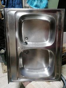 Sudoper dvodjelni inox