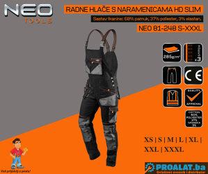 NEO Radne hlače s naramenicama HD Slim S-XXXL 81-248