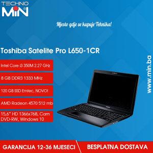 Toshiba L650, i3 350M 2.27/8/120SSD/DVD-RW/WEBCAM