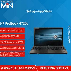 HP 4720s, i5 430M 2.27/8/120SSD/HD530V/WEBCAM/WIN10