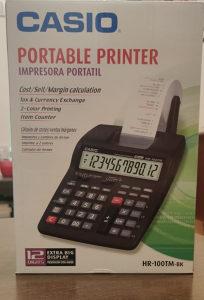Casio HR-100TM-BK prenosni printer digitron