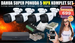 Dahua kompletan set 5 MPX video nadzor