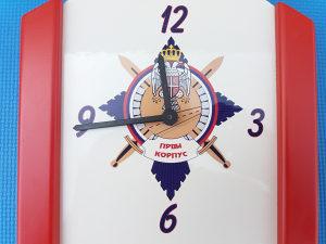 Zidni sat PRVI KORPUS VRS SA PEČATOM